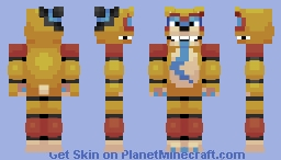 Glamrock Freddy (FNaF: Security Breach) Minecraft Skin