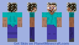 Glass Steve Minecraft Skin