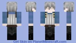 Goblin Slayer without Helmet V2 (HAIR STYLE) Minecraft Skin