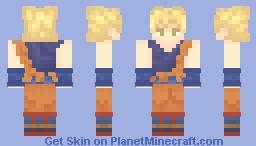 Son Goku yellow hair Minecraft Skin