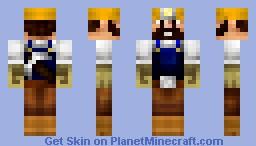 Gold Miner Minecraft Skin