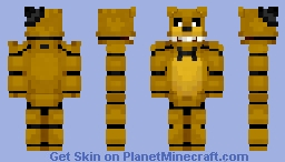 Golden Freddy (my version) Minecraft Skin