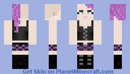 Gothic girl Minecraft Skin