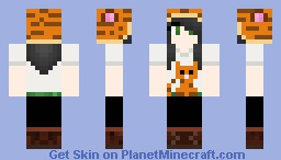 Girl with tiger hat (requested) Minecraft Skin