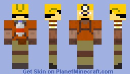 a miner with armor Minecraft Skin