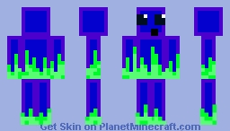 green fire slime thing Minecraft Skin