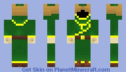 Magicka Green DLC Hat Mage Minecraft Skin