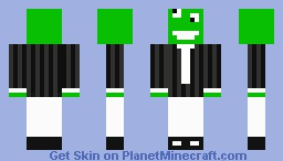 Green cookie monster Minecraft Skin