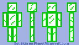 Green Glass Minecraft Skin