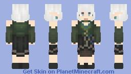 Green dress thing Minecraft Skin