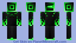 Green Techno Bot Minecraft Skin