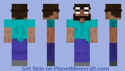 Griefer Herobrine Minecraft Skin