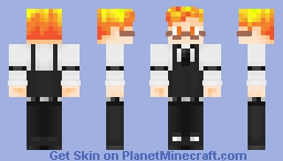 Boy in Grillby Costume Minecraft Skin