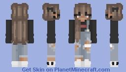 Grunge Girls Aesthetic Minecraft Skin