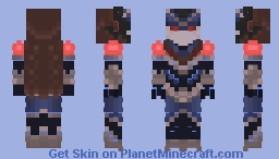 Noel,the guardian of night temple(reworked) Minecraft Skin