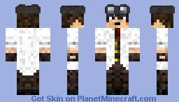 guy in a lab coat Minecraft Skin