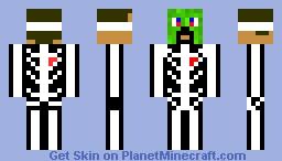 Creeper Mask w/ Skeleton Body Minecraft Skin