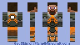 Half Life 2 - HEV Suit [Default Minecraft Face] Minecraft Skin