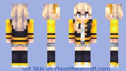 Haruko Braun (OC) - GoldenGlider's character contest entry (skin ver. ) Minecraft Skin