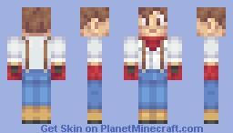 [3D hair/ears!] Harvest Moon boy :) Minecraft Skin