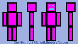pink wool man Minecraft Skin