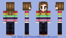 Hermione Order of the Phoenix multicoloured jumper/sweater Minecraft Skin