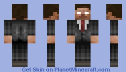 Herobrine in a tuxedo Minecraft Skin