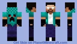 Creeper Herobrine Minecraft Skin
