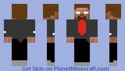 Herobrine in a suit Minecraft