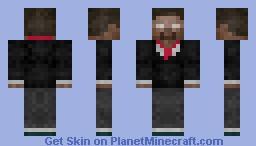 Herobrine in a suit Minecraft Skin