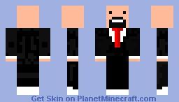 Notch in a tuxedo Minecraft Skin
