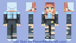 orange hair Minecraft Skin
