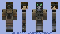 solid snake with a gasmask Minecraft Skin