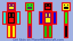 Neon Epic Face Minecraft Skin