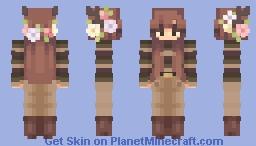 aesthetic girl Minecraft Skin