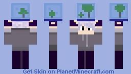 Violet Holding SG Minecraft Skin
