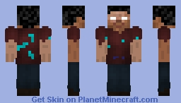 Homeless Herobrine Minecraft Skin