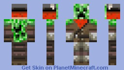 HoneyDew the Creeper Hunter Minecraft Skin