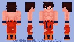 Son Goku Kaiokenx3 Damaged Gi Minecraft Skin