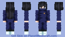 Toge Inumaki [(But The Hair are Black and Long and the eyes Brown)Jujutsu Kaisen] Request Minecraft Skin