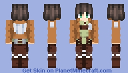 Eren Jeager (Attack on Titan) 1st Season Minecraft Skin