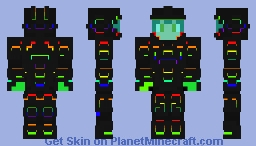 Human ROBOT ( Human in a very cool ROBOT suit ) Minecraft Skin