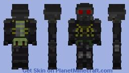Hunk [Resident Evil 2] (custom 3D edit) Minecraft Skin