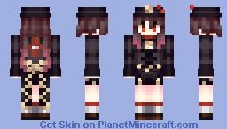 Hu tao genshin impact Minecraft Skin