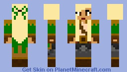 Jungle Girl Minecraft Skin