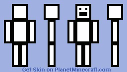 White and Black Outline! Minecraft Skin