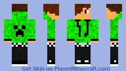 Creeper teenager Minecraft Skin