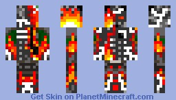 FireBeast(Better) Minecraft Skin