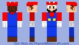 Mario Minecraft Skin