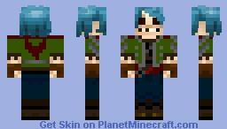 Gorillaz 2D Minecraft Skin